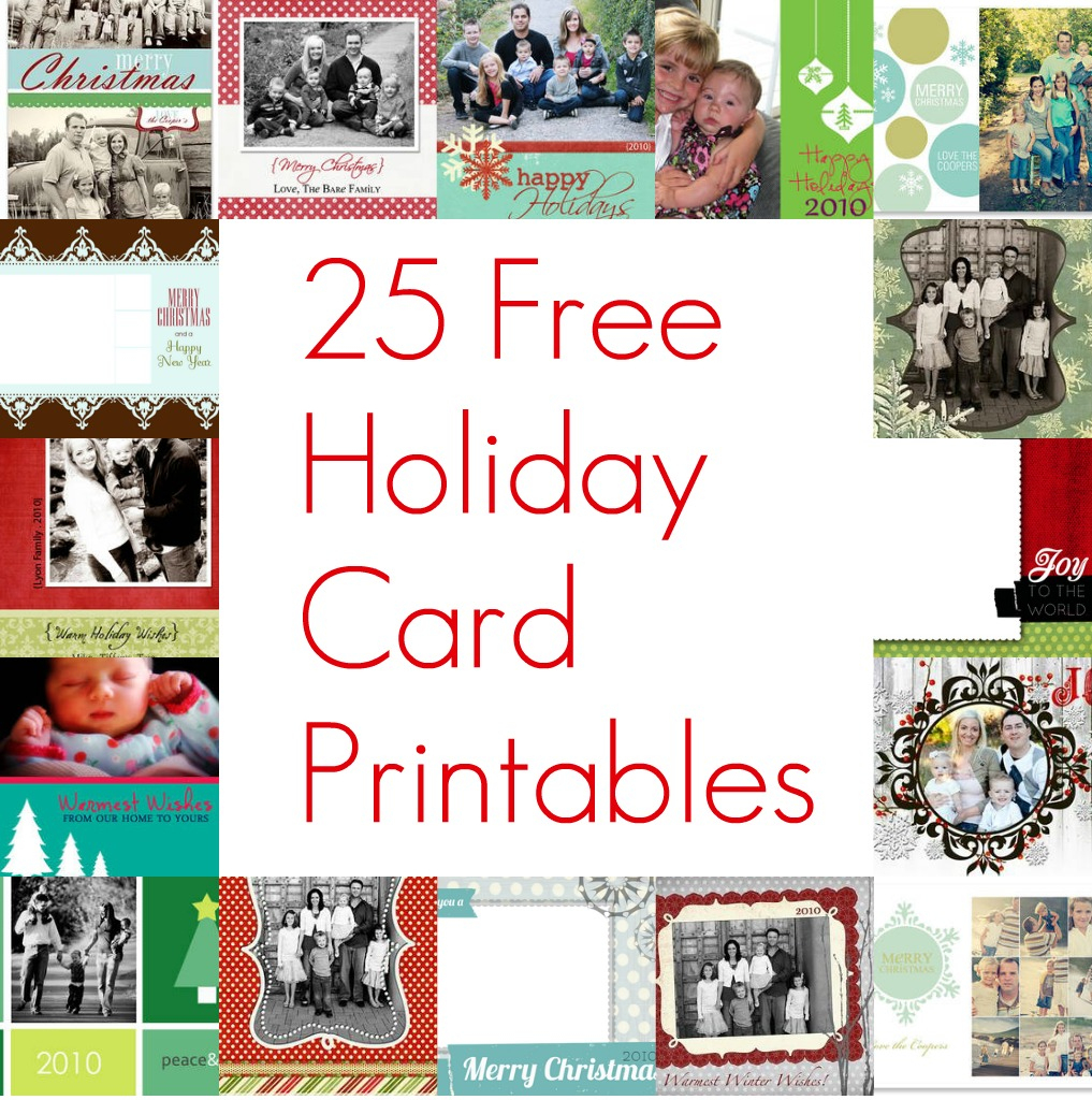 Free Printable Photo Collage Christmas Cards – Festival Collections - Free Printable Christmas Photo Collage