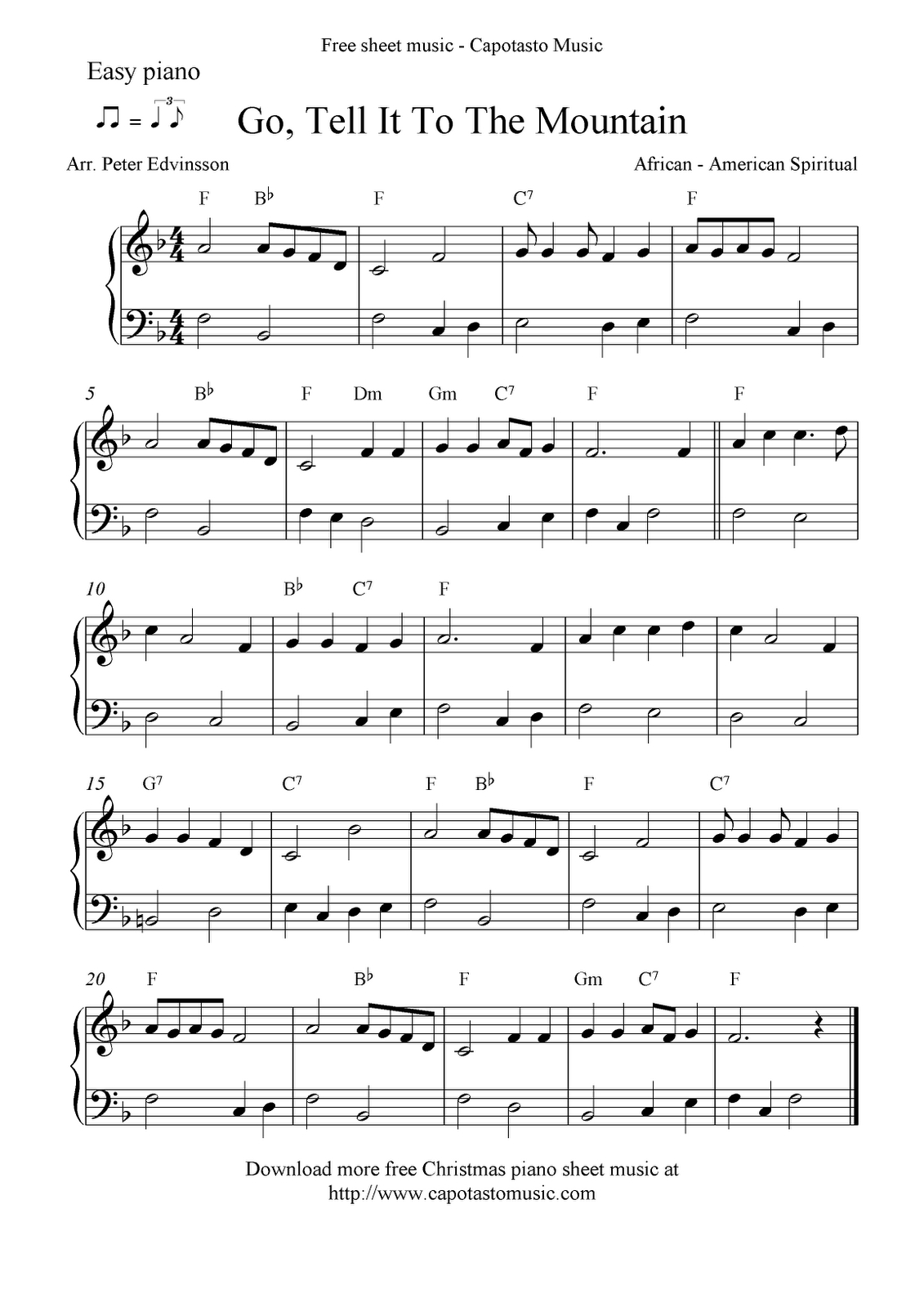 Free Printable Piano Sheet Music | Free Sheet Music Scores: Easy - Free Christmas Piano Sheet Music For Beginners Printable