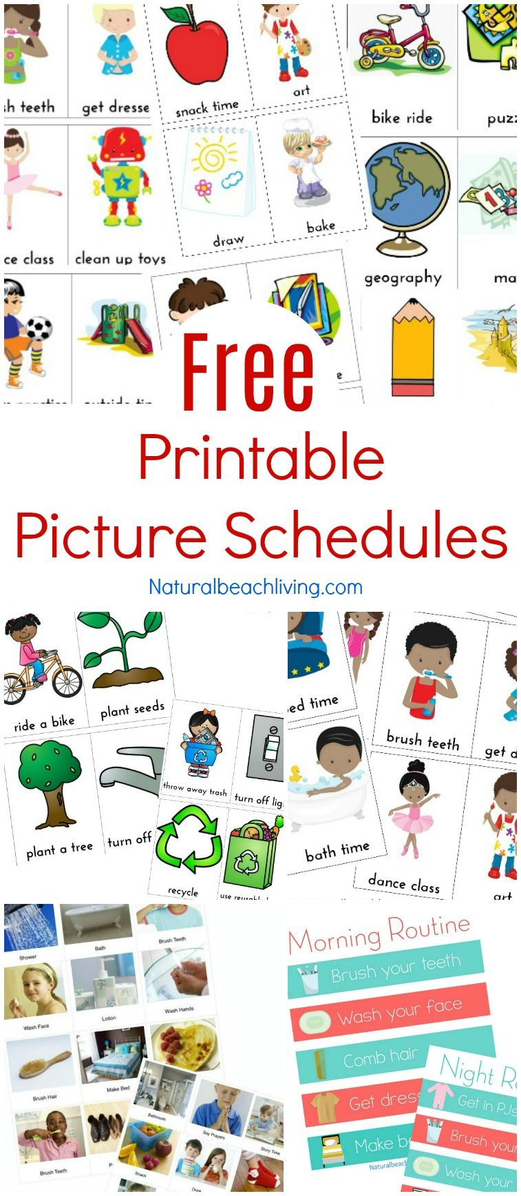 Free Printable Picture Schedule Cards - Visual Schedule Printables - Free Printable Schedule Cards For Preschool