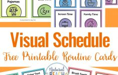 Free Printable Visual Schedule For Preschool
