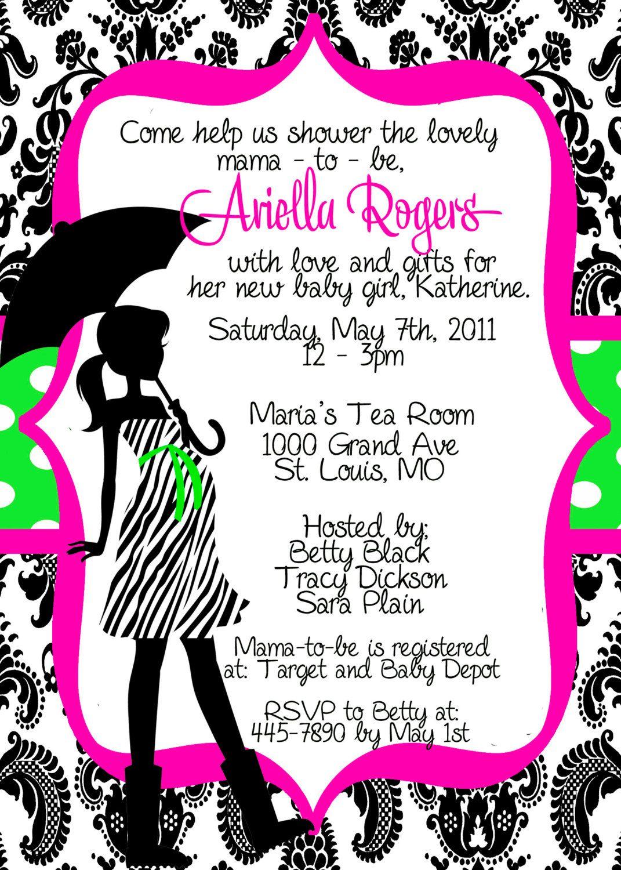 Free Printable Pink Zebra Baby Shower Invitations | P | Pinterest - Free Printable Zebra Baby Shower Invitations