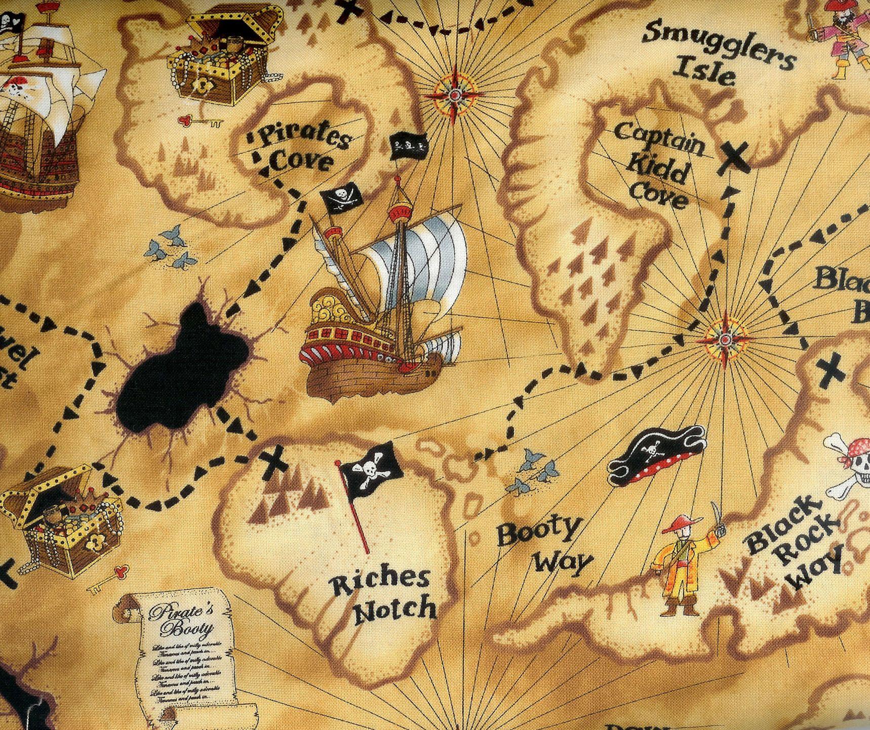 Free Printable Pirate Treasure Map - Google Search | Boy Pirates - Free Printable Pirate Maps