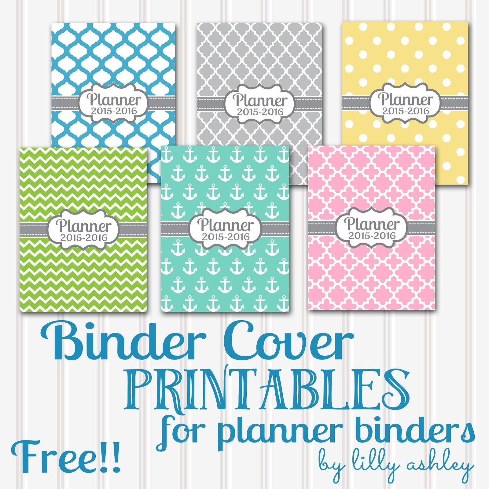 Free Printable Planner Coverssix Styles! | Planners And - Free Printable Binder Covers And Spines