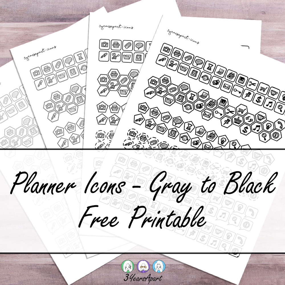 Free Printable Planner Icons - Neutrals | Free Download Bullet - Free Printable Icons