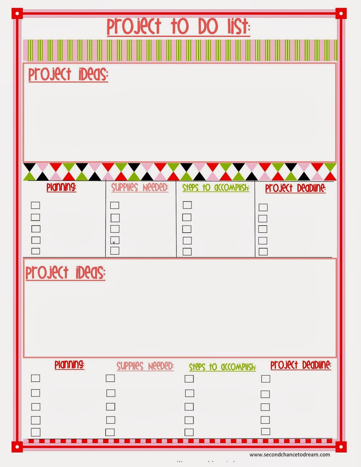 Free Printable Planner In Two Colors} | Organizing Your Calendar - Free Printable 5.5 X8 5 Planner Pages