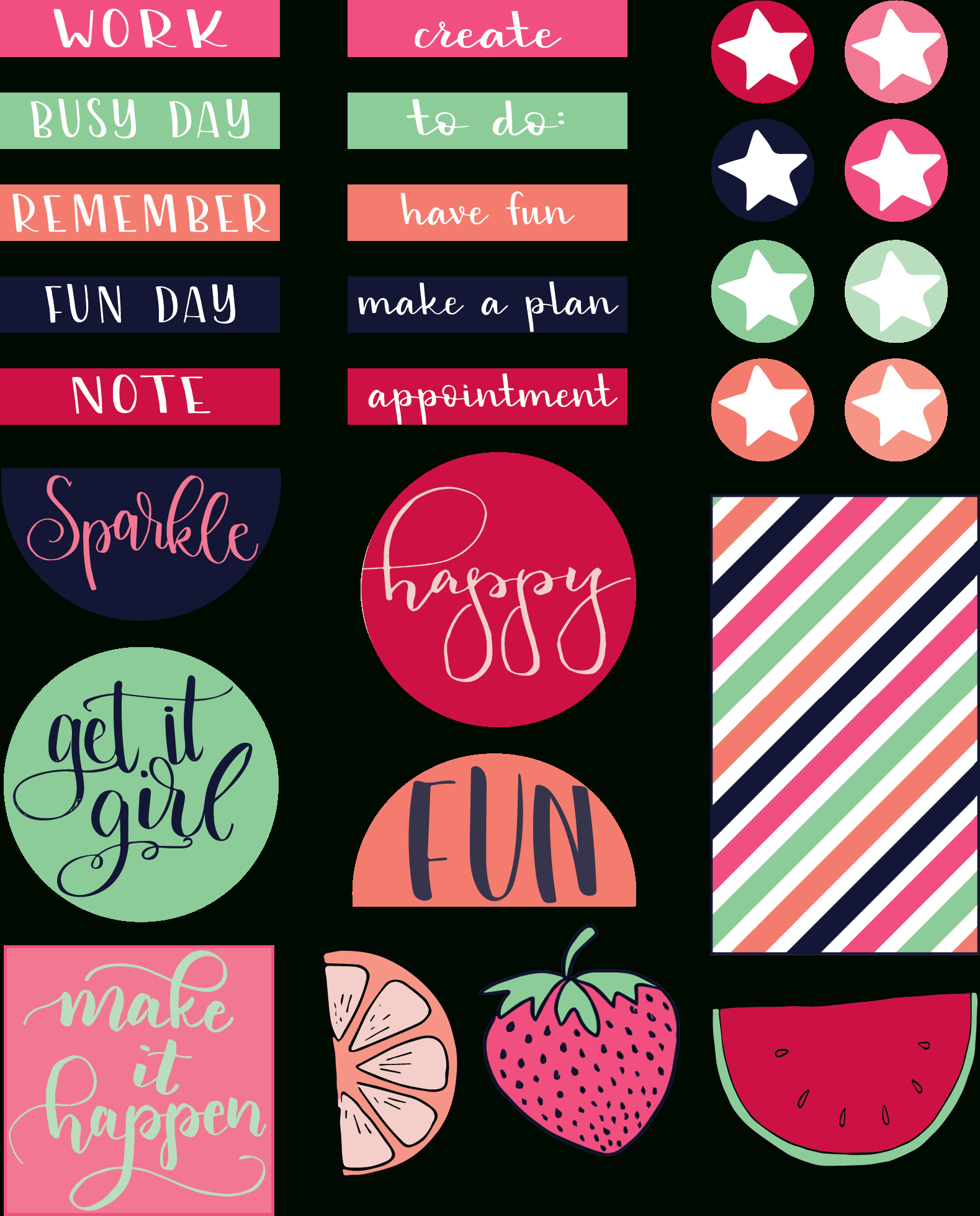 Free Printable Planner Stickers - Liz On Call - Free Printable Stickers For Teachers