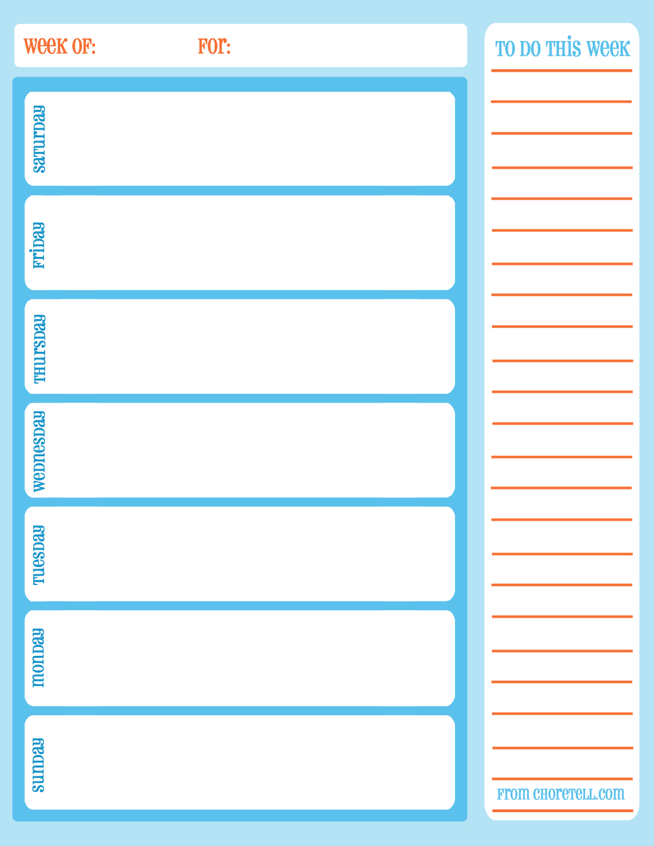 Free Printable Planner Weekly Minute Intervals Monthly Pdf Schedule - Free Printable Schedule