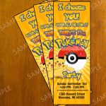 Free Printable Pokemon Invitation Cards | *{Elijah} ❤ | Pokemon   Free Printable Pokemon Birthday Invitations