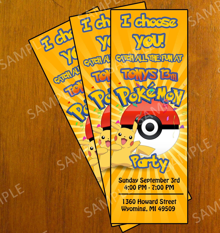 Free Printable Pokemon Invitation Cards | *{Elijah} ❤ | Pokemon - Free Printable Pokemon Birthday Invitations