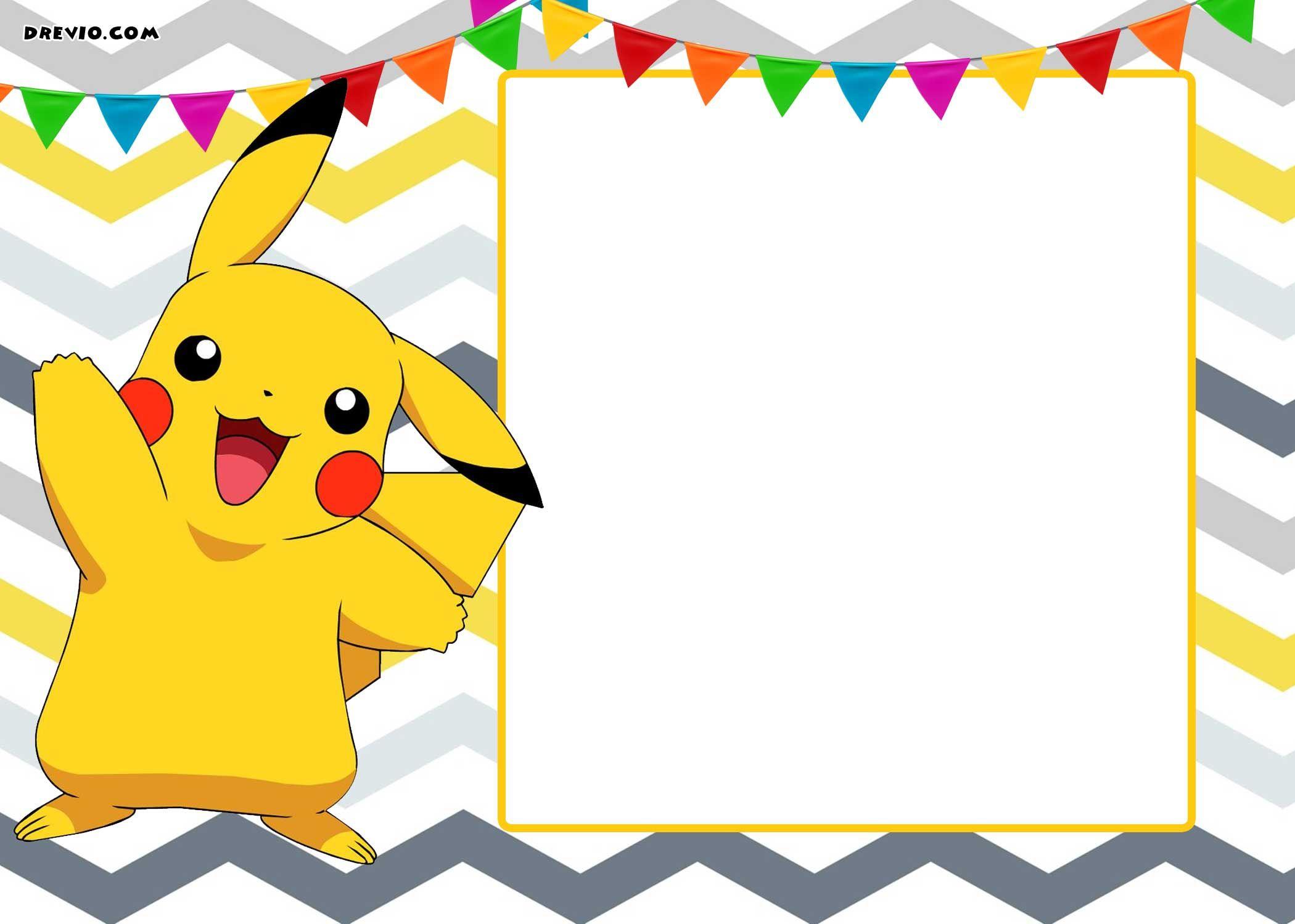 Free Printable Pokemon Invitation | Free Printable Birthday - Pokemon Invitations Printable Free