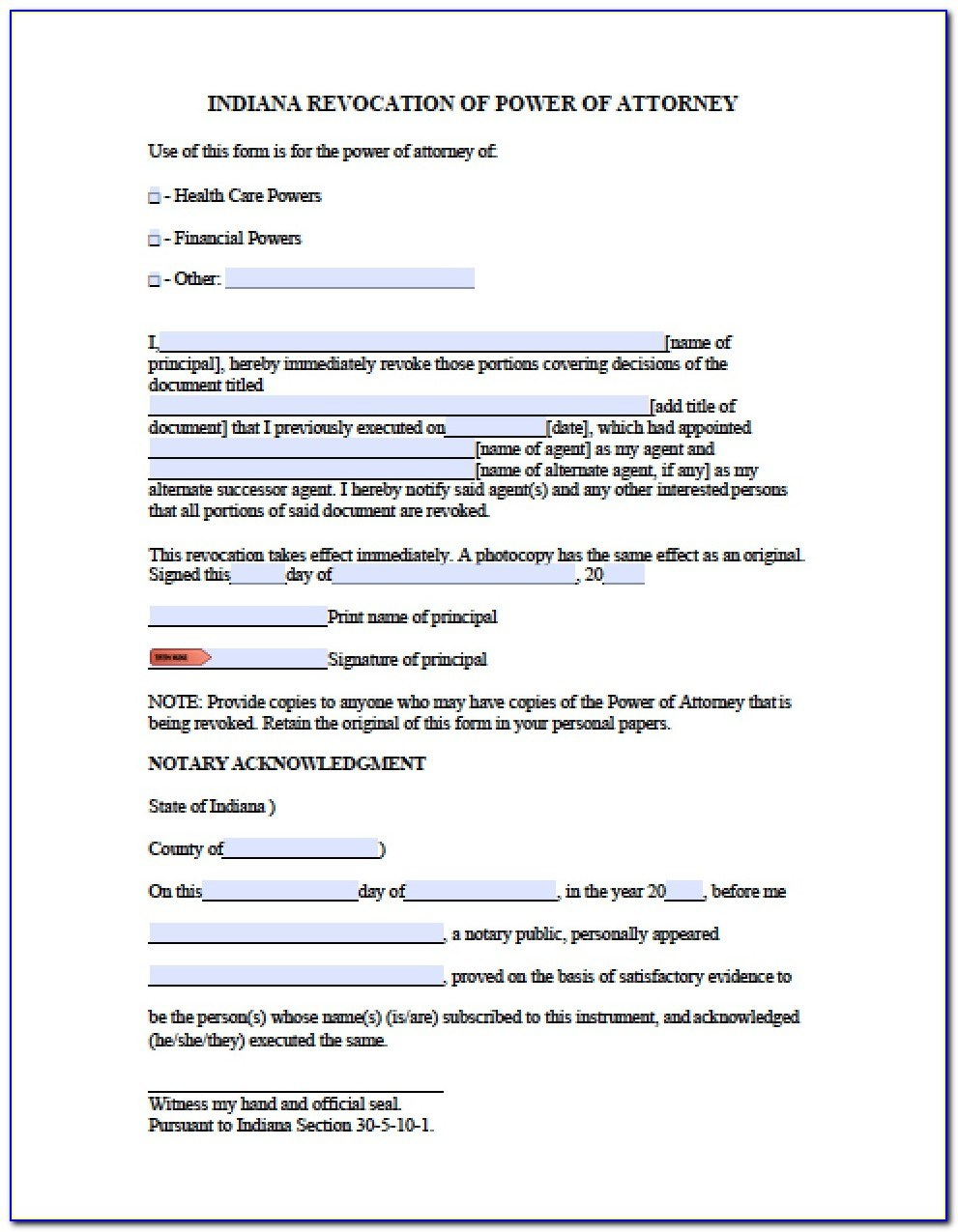 Free Printable Power Of Attorney Forms California Form Resume - Free Printable Forms