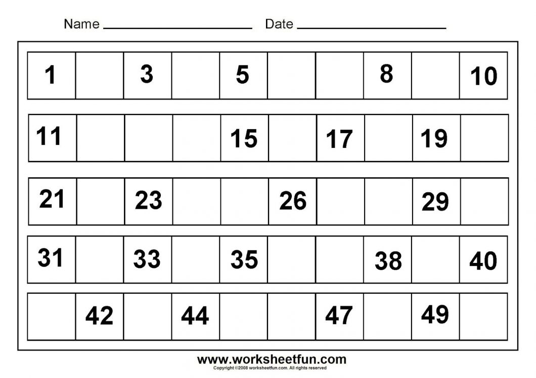 Free Printable Pre K Math Worksheets – With Maths Ks2 Also Preschool - Free Printable Preschool Math Worksheets