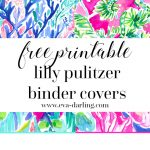 Free Printable Preppy Lilly Pulitzer Binder Covers   Free Printable Customizable Binder Covers