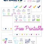 Free Printable Preschool Chore Charts   Free Printable Chore Chart Ideas