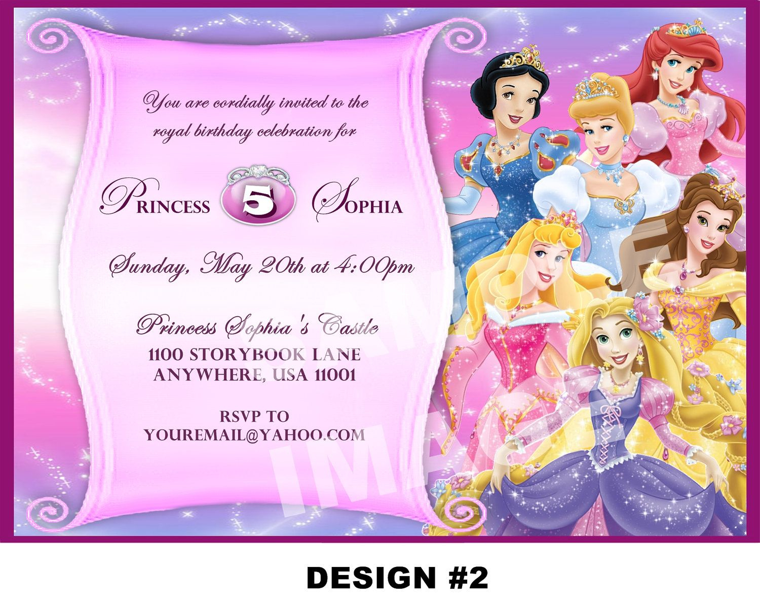 Free Printable Princess Party Invitations | Disney Princess - Disney Princess Free Printable Invitations