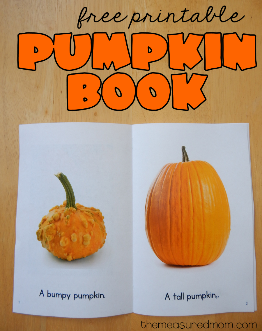 Free Printable Pumpkin Book | Best Of The Measured Mom | Preschool - Free Printable Pumpkin Books