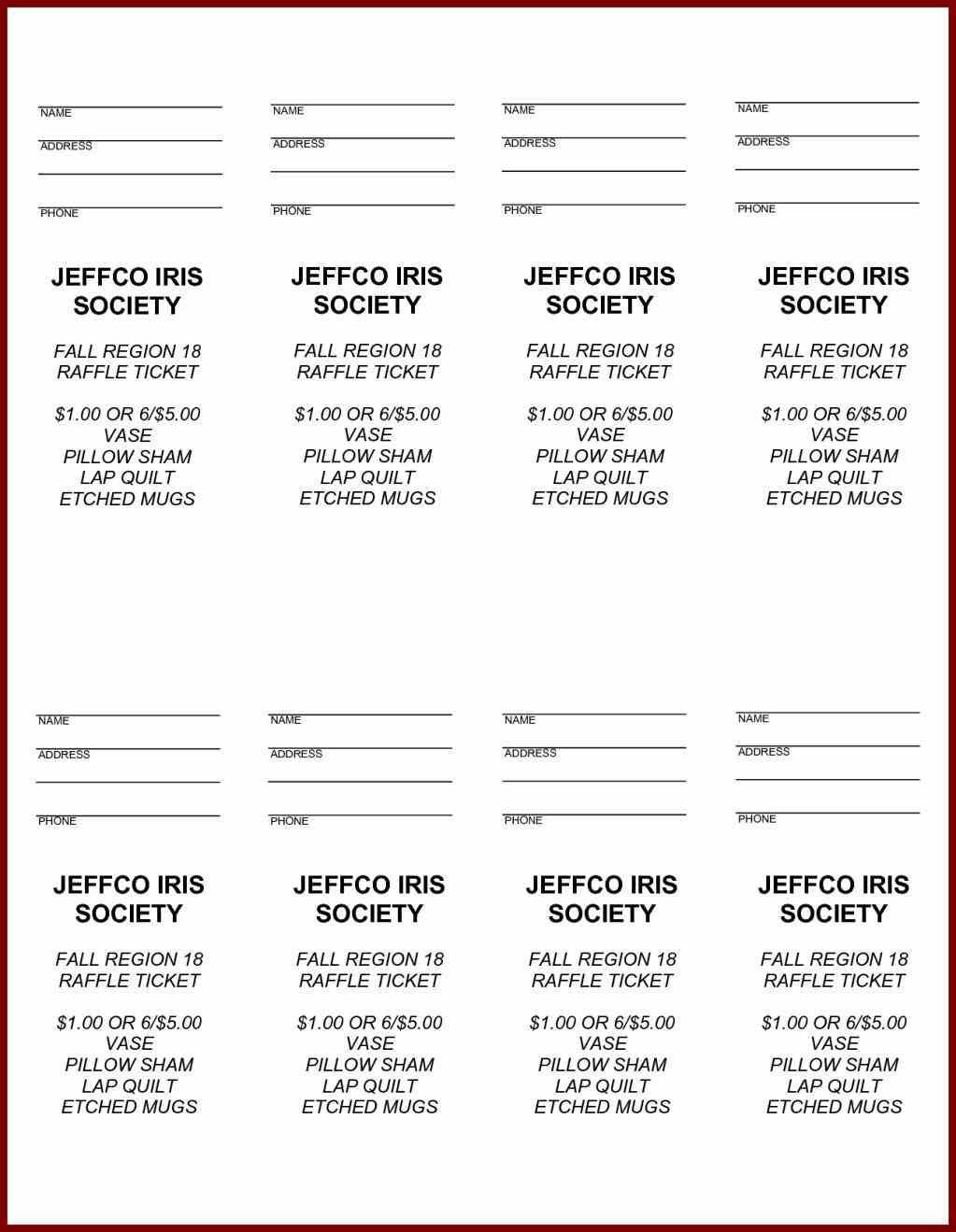 Free Printable Raffle Ticket Template Easytouse Free Raffle Ticket - Free Printable Raffle Ticket Template