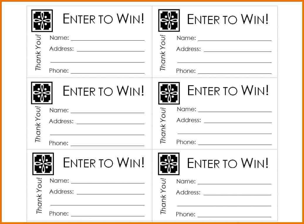Free Printable Raffle Ticket Template Raffle Ticket Templates - Free Printable Raffle Ticket Template