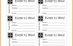 Free Printable Raffle Tickets With Stubs