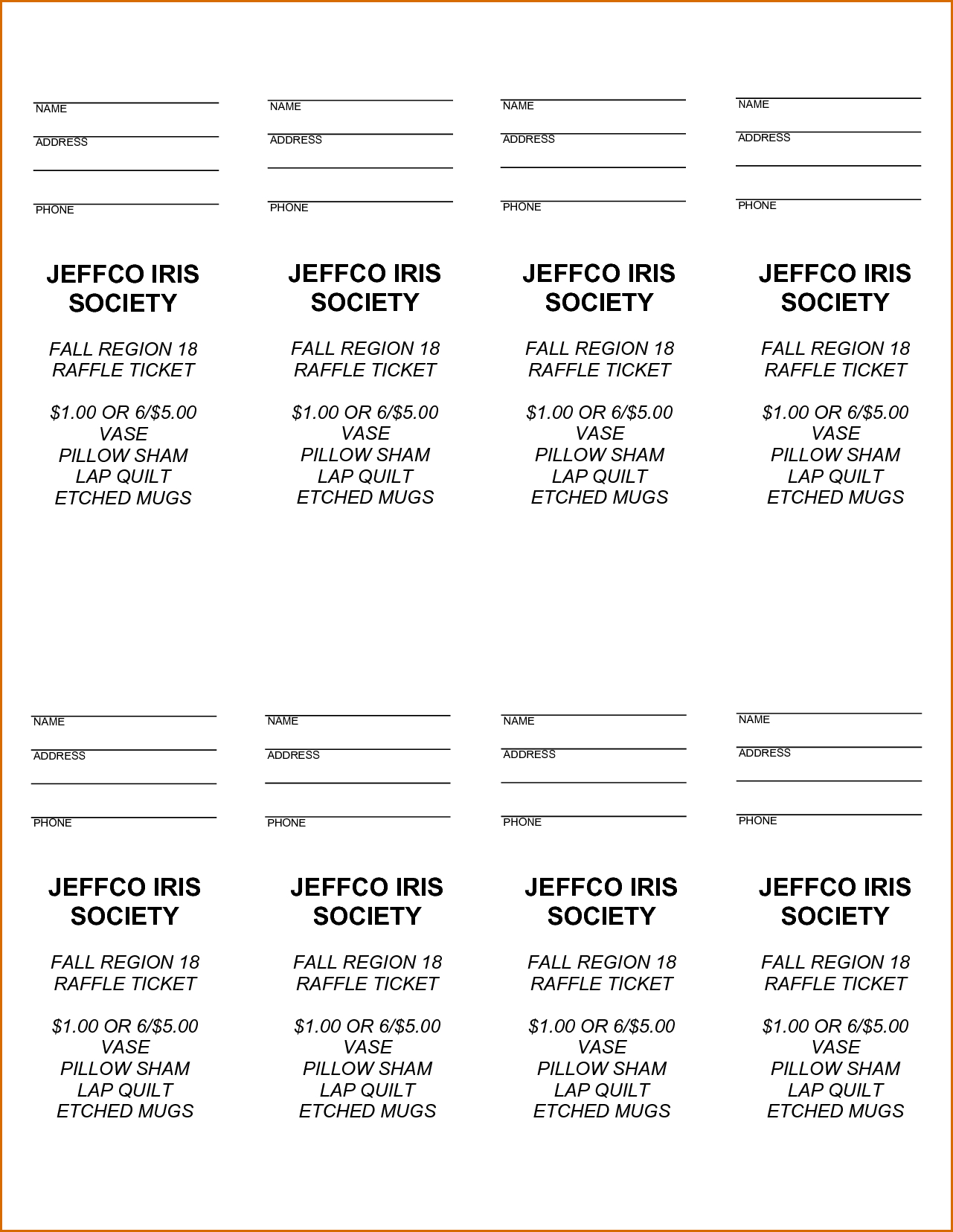 Free Printable Raffle Tickets - Free Printable Raffle Ticket - Free Printable Raffle Ticket Template