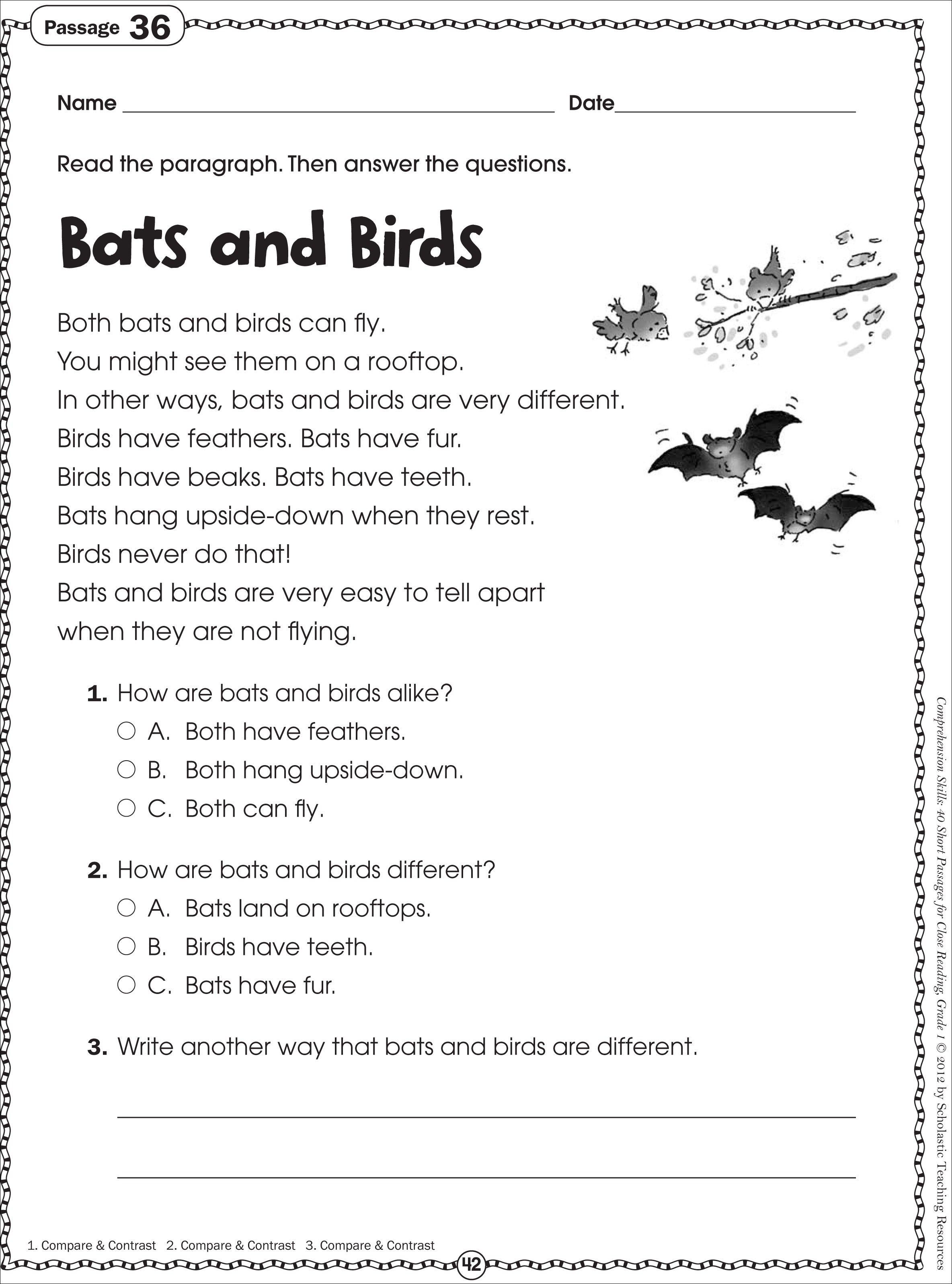 Free Printable Reading Comprehension Worksheets For Kindergarten - Free Printable Groundhog Day Reading Comprehension Worksheets