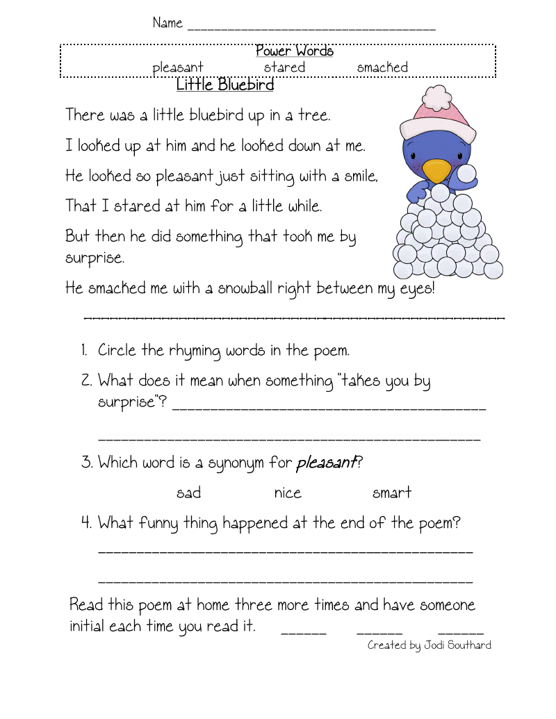 Free Printable Reading Comprehension Worksheets For Kindergarten - Free Printable Reading Comprehension Worksheets For Kindergarten