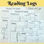 Free Printable Reading Logs ~ Full Sized Or Adjustable For Your   Free Printable Pre K Reading Books