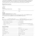 Free Printable Rental Lease Agreement Form Template | Bagnas   Free Printable Roommate Rental Agreement