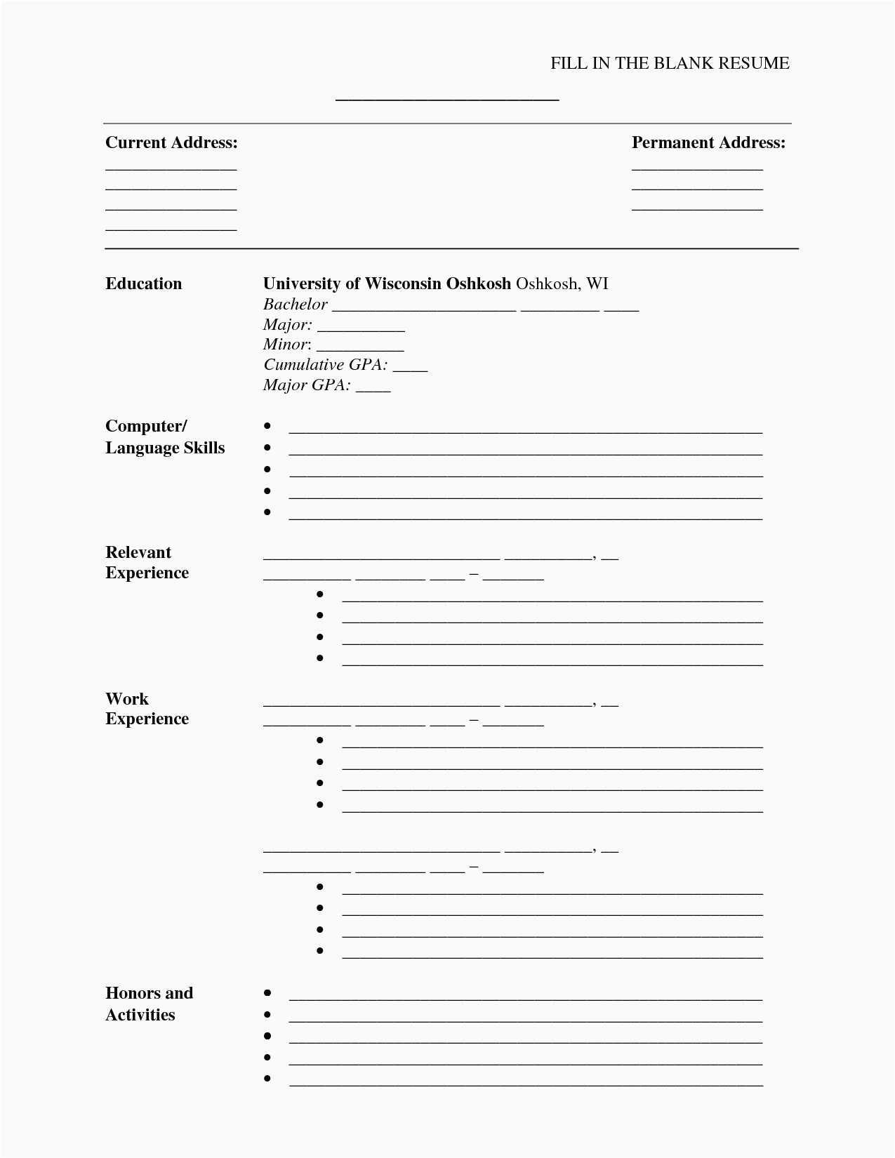 Free Printable Resume Template Inspirational 30 Free Microsoft Word - Free Printable Professional Resume Templates