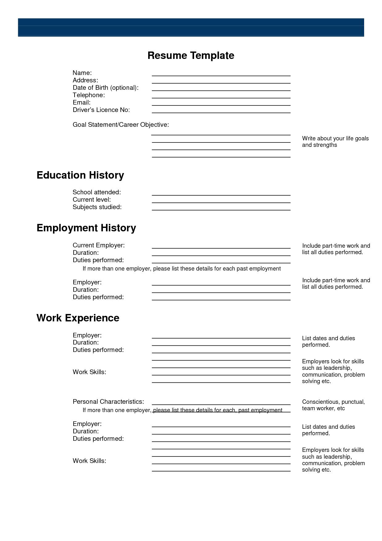 Free Printable Resume Templates Microsoft Word Best Of 23 Template - Free Printable Resume Templates Microsoft Word