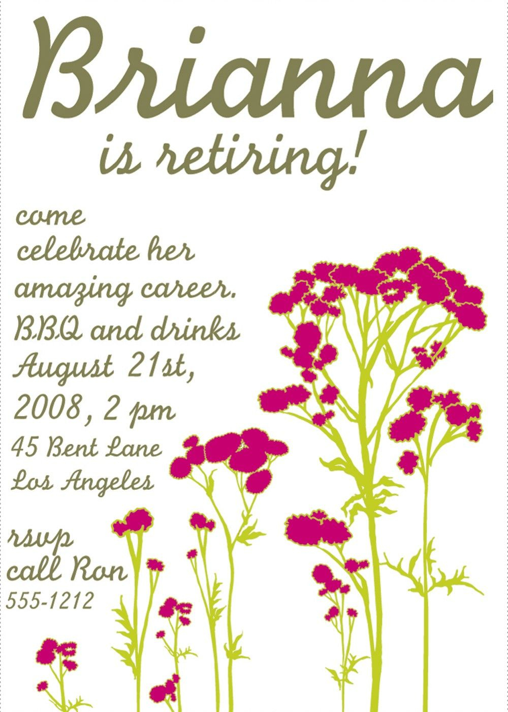 Free Printable Retirement Party Invitations Templates | Betsy's - Free Printable Retirement Cards