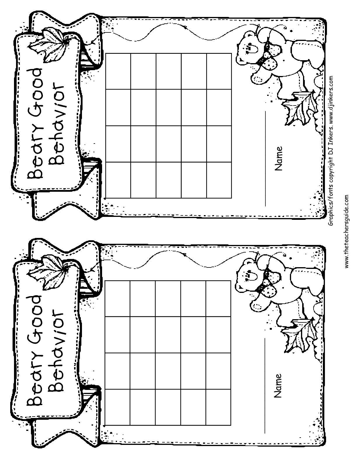 Free Printable Reward And Incentive Charts - Free Printable Behavior Charts For Elementary Students