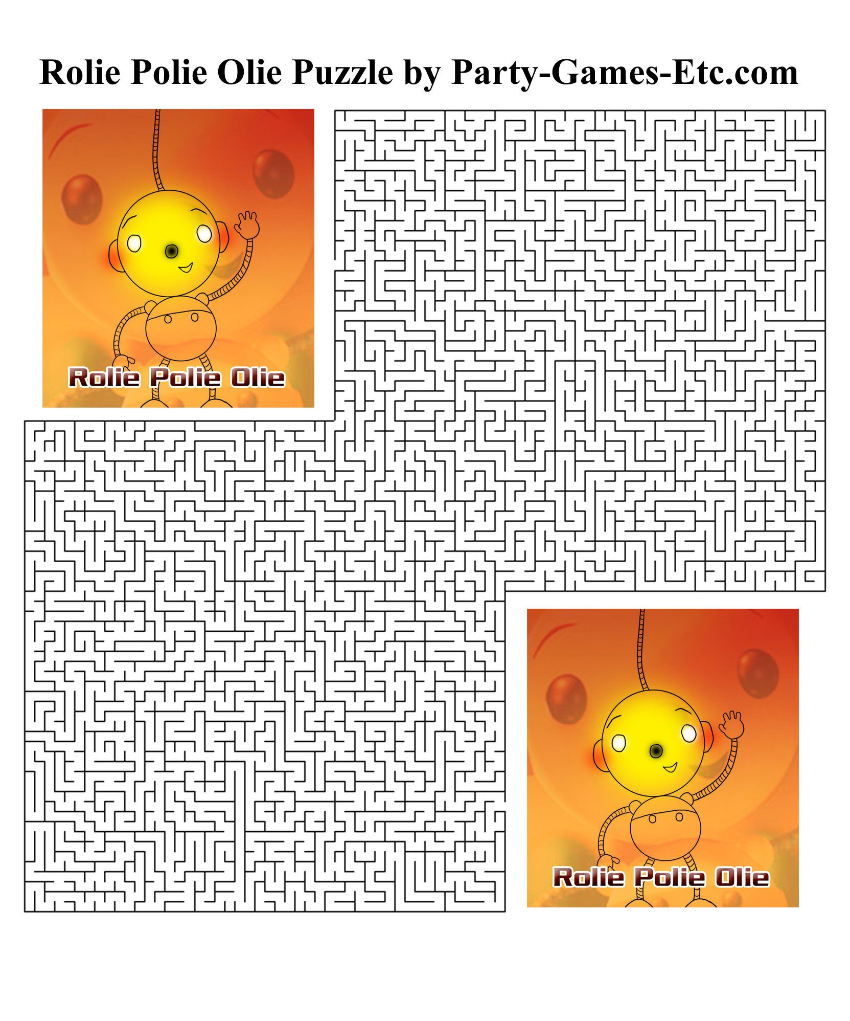Free Printable Rolie Polie Olie Party Game And Pen And Paper - Over The Hill Games Free Printable
