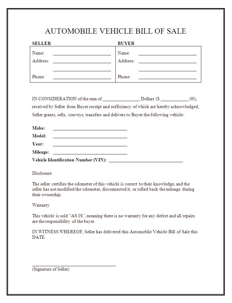 Free Printable Sales Receipt Form Template Pdf Allwaycarcarecom Used - Free Printable Sales Receipt Form