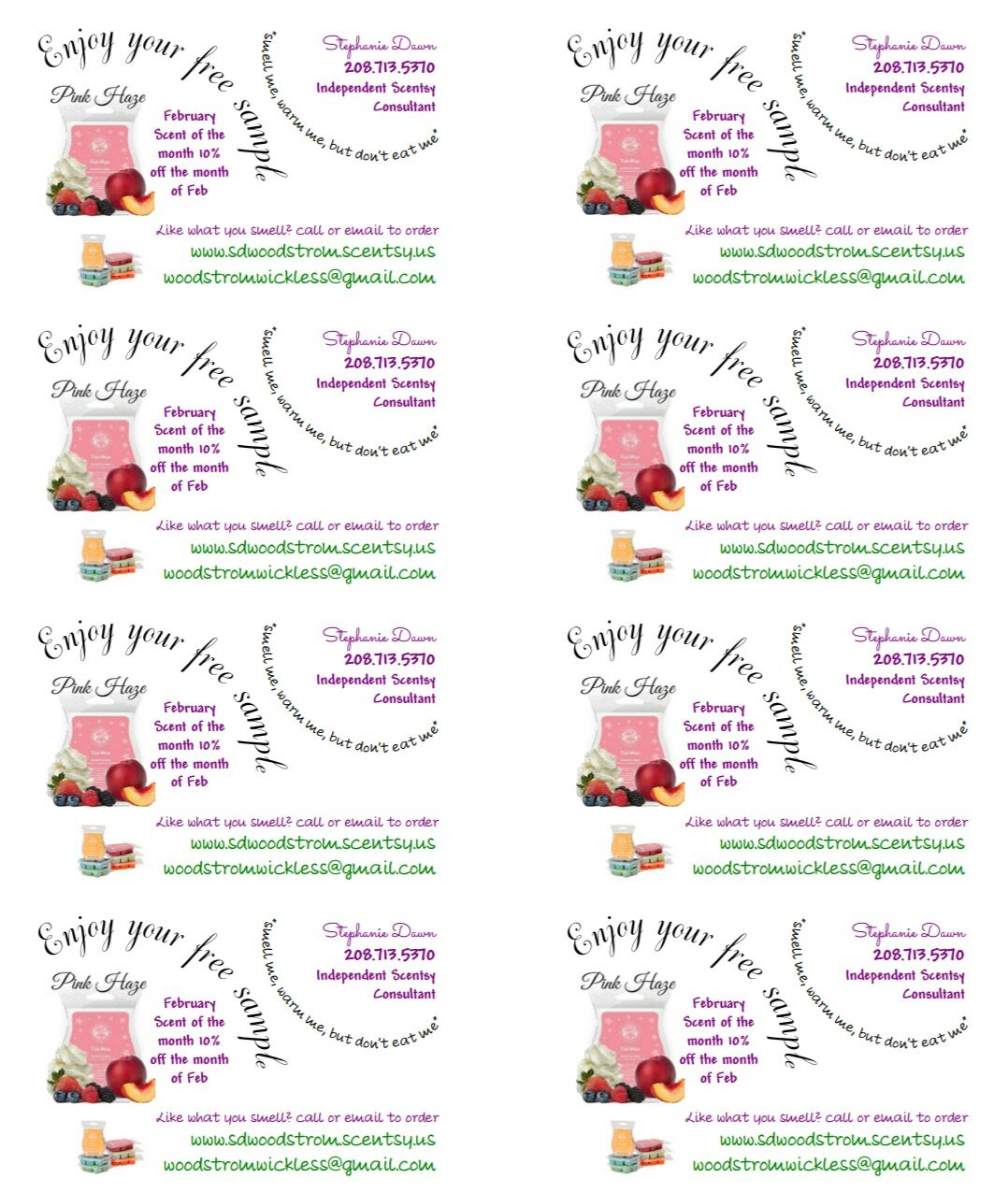 Free Printable Scentsy Business Cards | Download Them Or Print - Free Printable Scentsy Business Cards