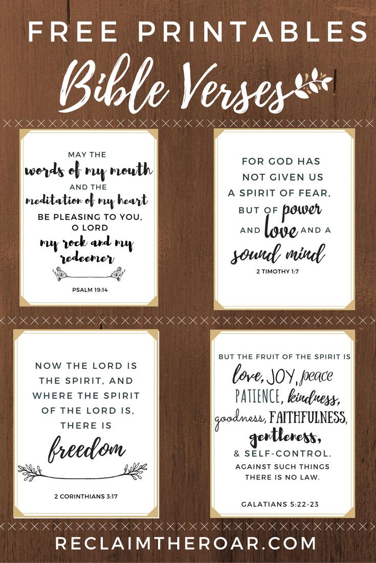 Free Printable Scriptures   Words   Pinterest   Printable Bible - Free Printable Scripture Verses