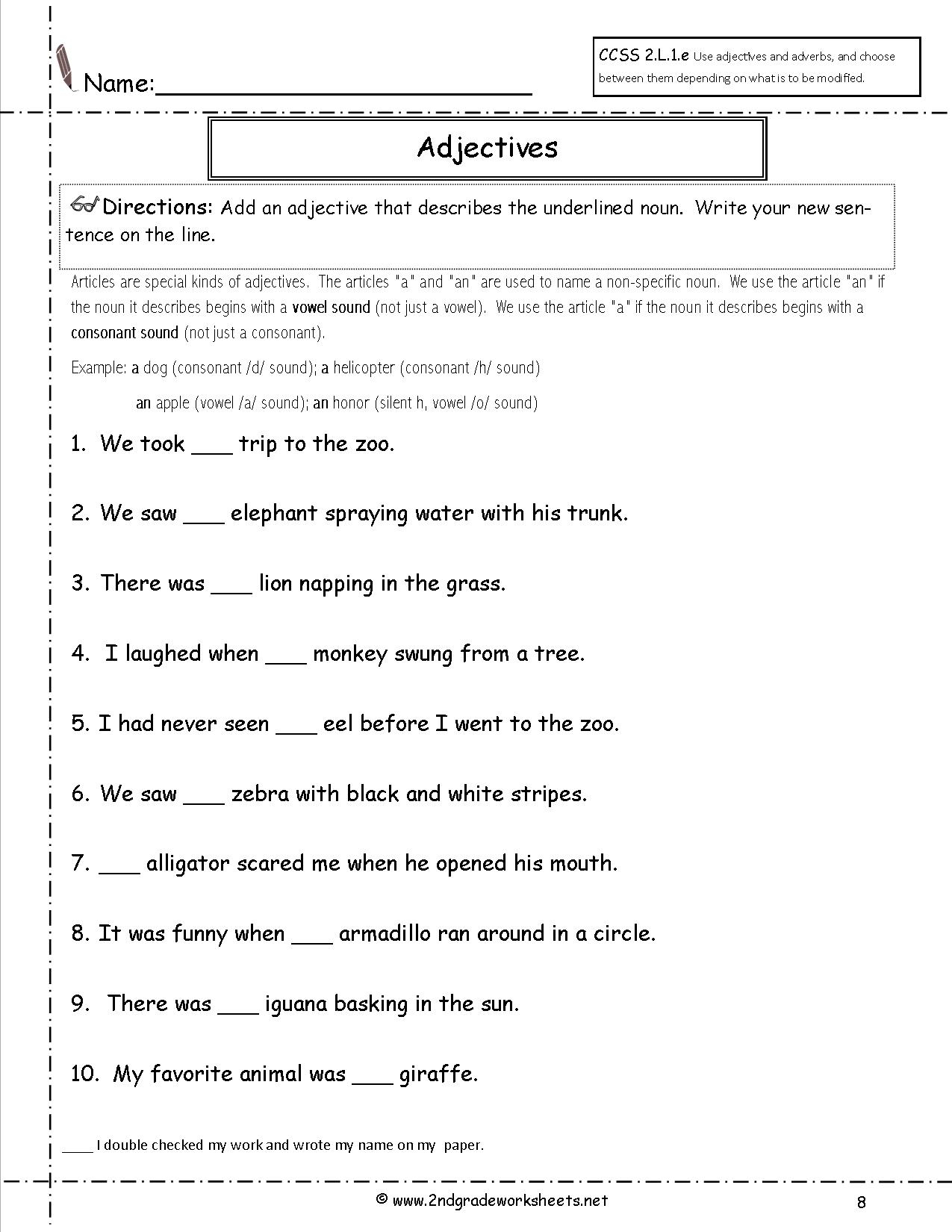 Free Printable Second Grade Worksheets » High School Worksheets - Free Printable Grammar Worksheets For Highschool Students