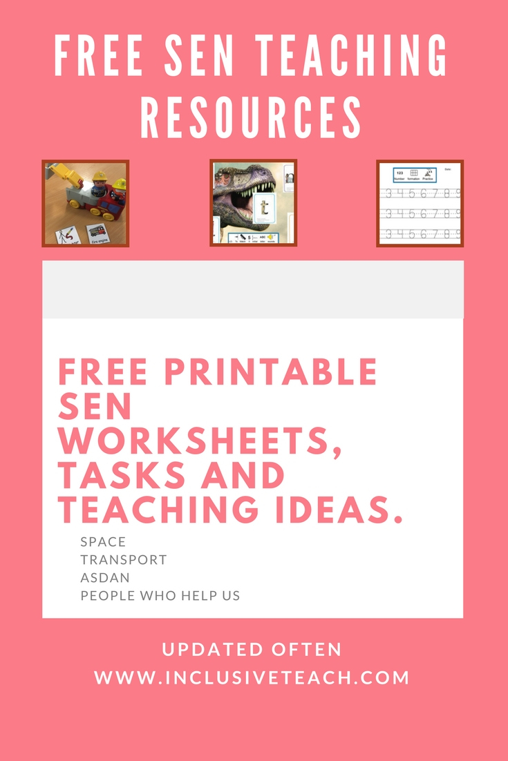Free Printable Sen Teaching Resources – Special Needs Teaching And - Free Printable Widgit Symbols