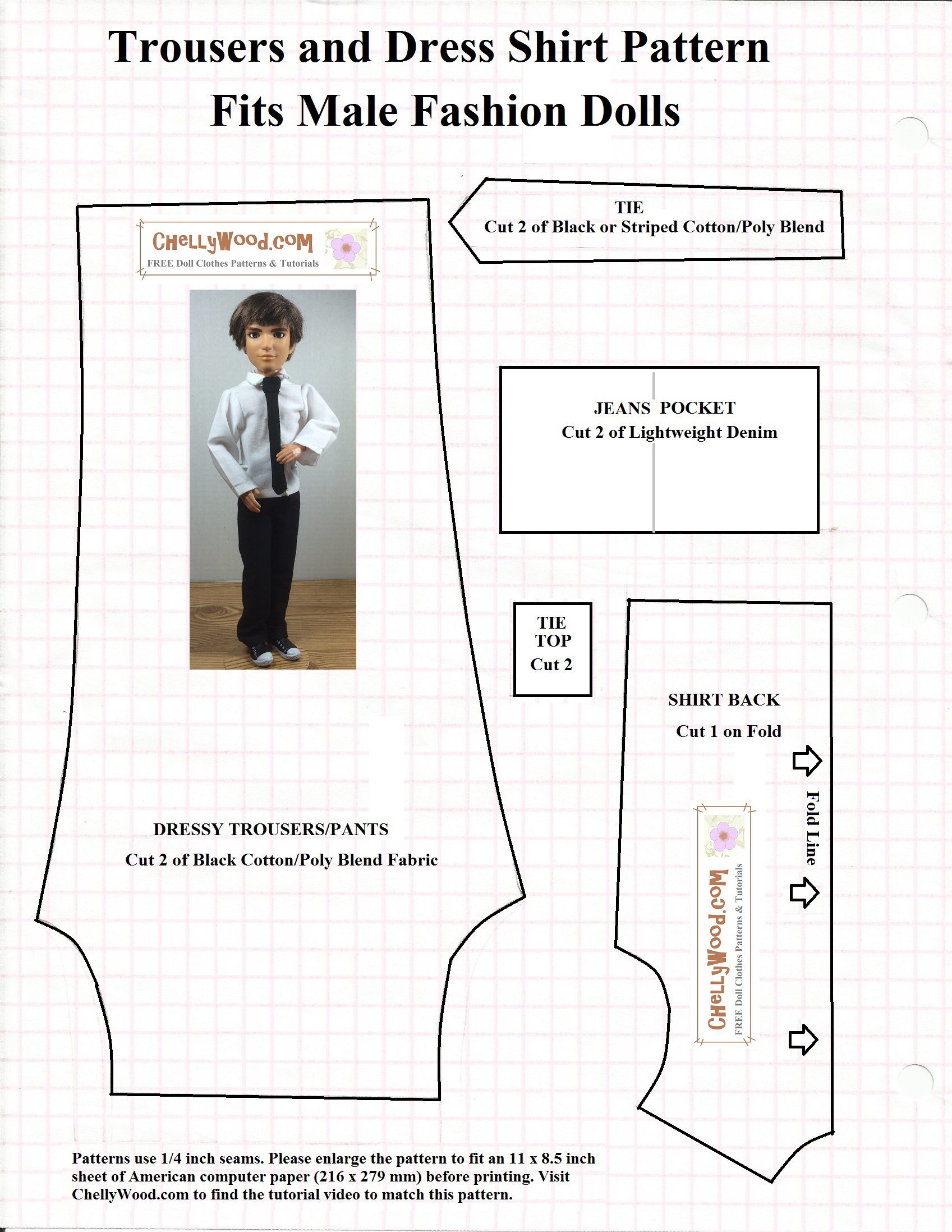 Free Printable #sewing Patterns For Ken #dolls' #clothes - Free Printable Patterns For Sewing Doll Clothes