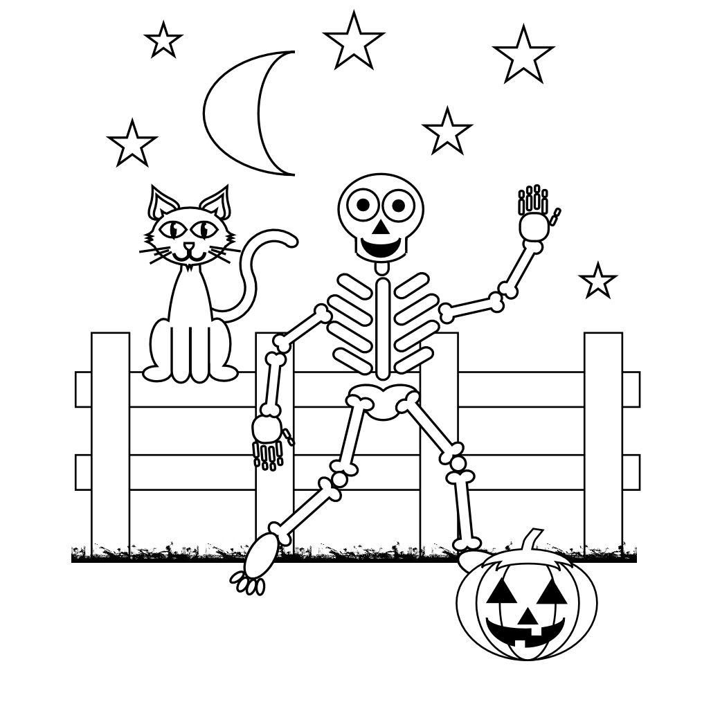 Free Printable Skeleton Coloring Pages For Kids | Halloween - Free Printable Skeleton Coloring Pages
