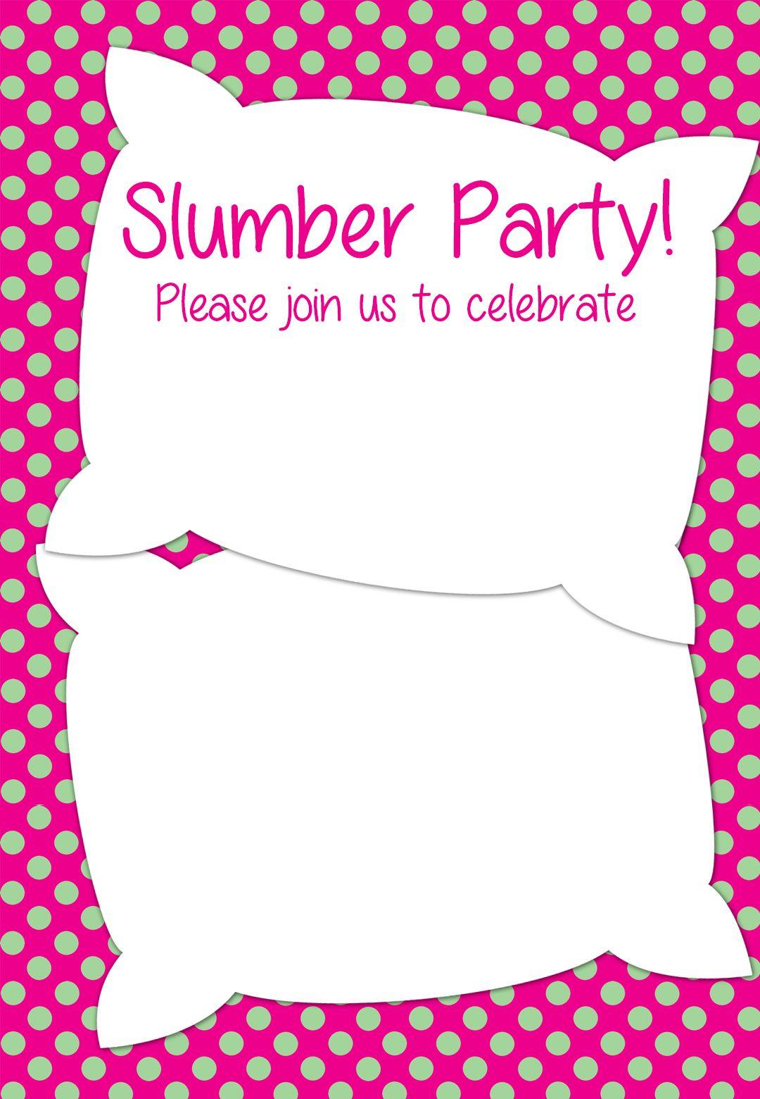 Free Printable Slumber Party Invitation | Party Ideas In 2019 - Free Printable Event Invitations