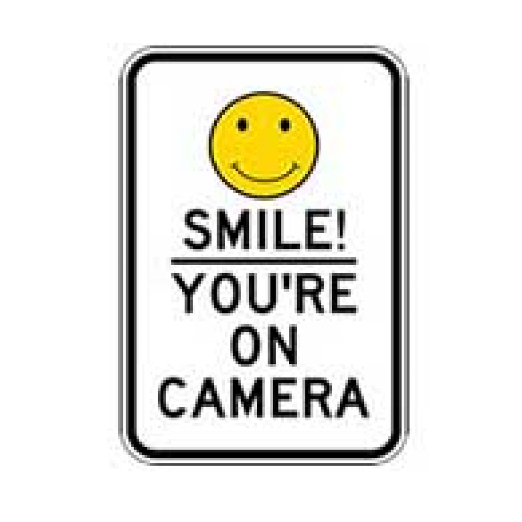 Free Printable Smile Your On Camera Sign   Free Printable - Free Printable Smile Your On Camera