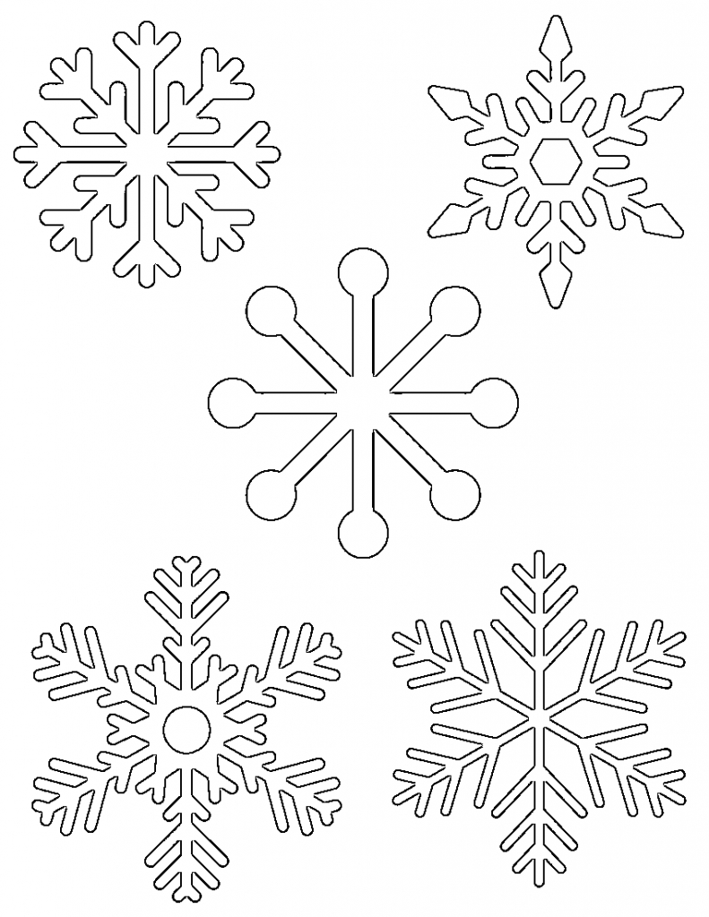 Free Printable Snowflake Templates – Large & Small Stencil Patterns - Free Printable Snowflake Patterns