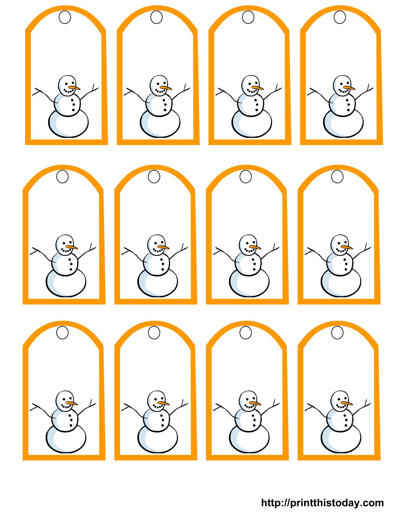 Free Printable Snowman Christmas Gift Tags - Free Printable To From Gift Tags
