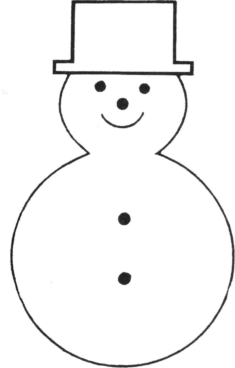 Free Printable Snowman Template | Teaching Ideas | Pinterest - Free Printable Snowman Hat Templates