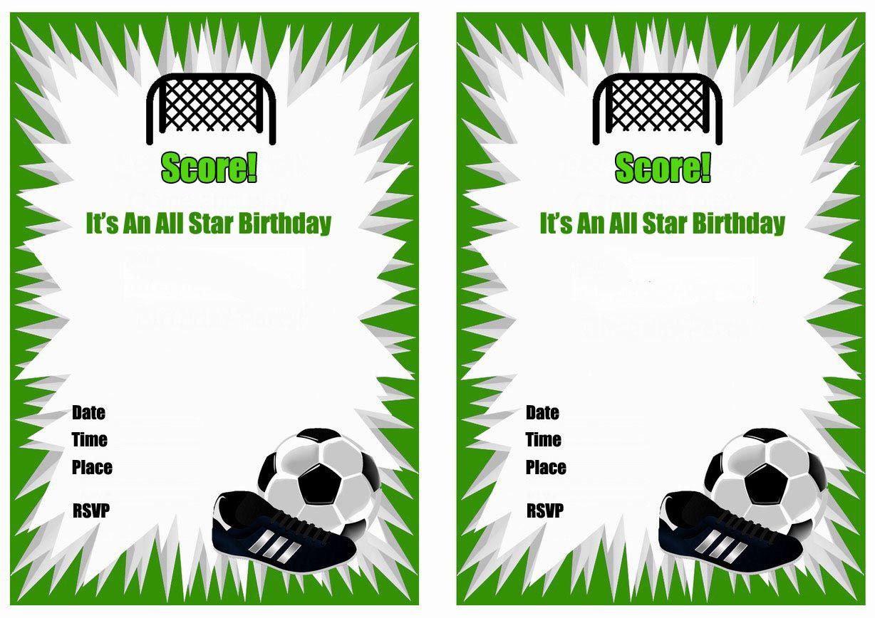 Free Printable Soccer Birthday Party Invitations | Birthday Party In - Free Printable Soccer Birthday Invitations