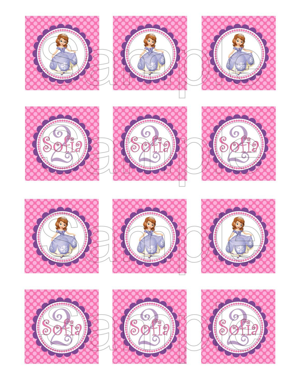 Free Printable Sofia The First Birthday Invitations. Printable - Sofia The First Cupcake Toppers Free Printable