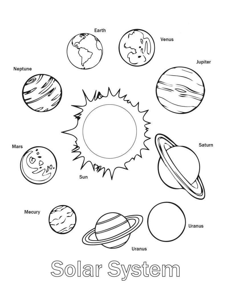 Free Printable Solar System Coloring Pages For Kids | Coloring Pages - Free Printable Solar System Worksheets
