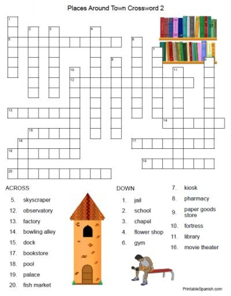 Free Printable Spanish Crossword Puzzles From Printablespanish - Free Printable Skyscraper Puzzles