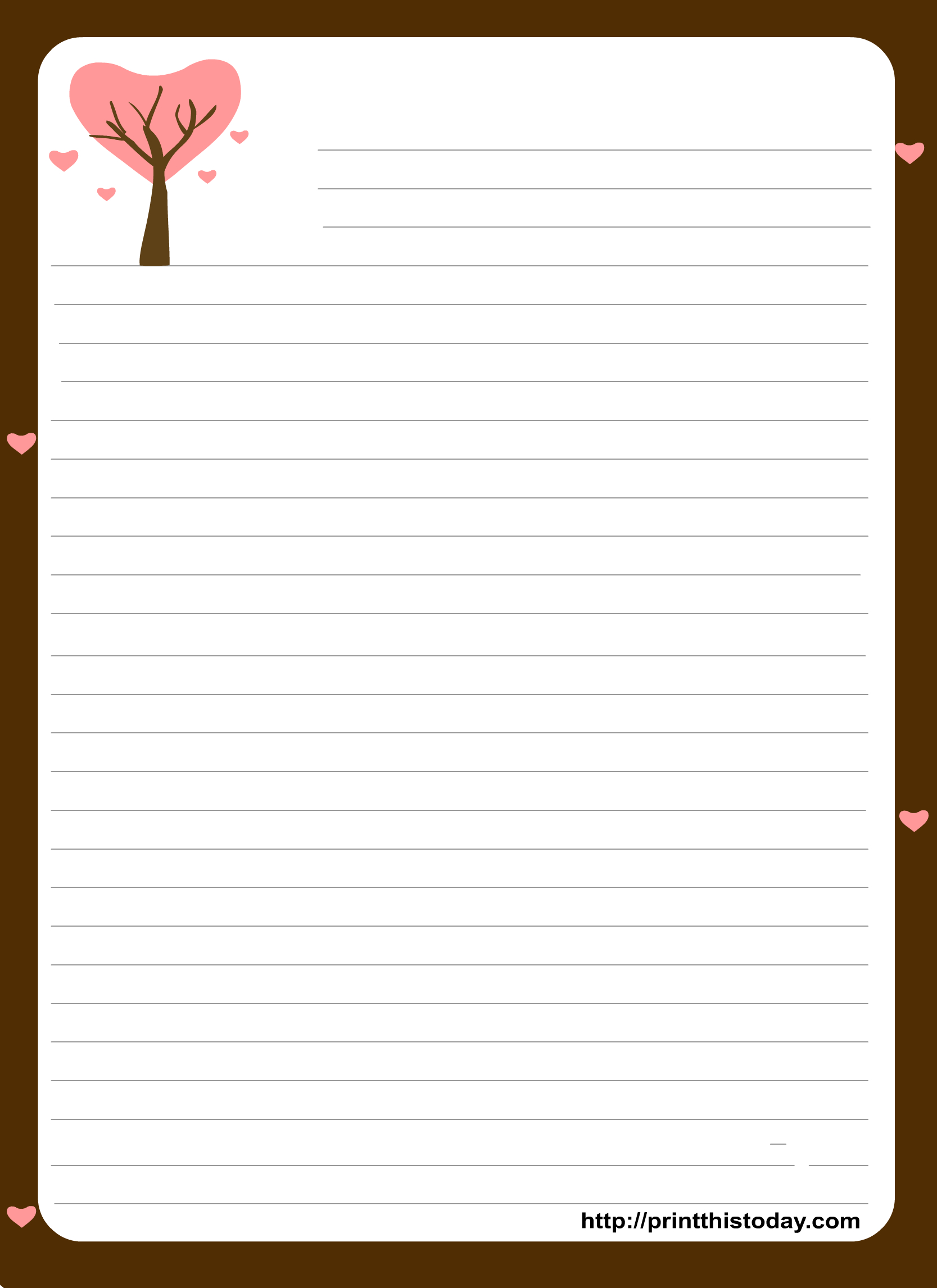 Free Printable Stationery Paper | Free Printable Stationary With - Free Printable Writing Paper For Adults